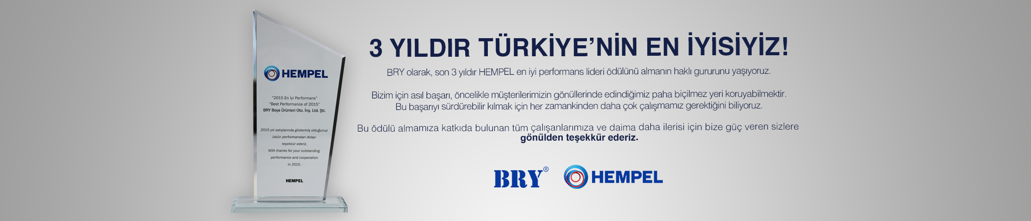 Hempel 2015 En �yi Performans �d�l�